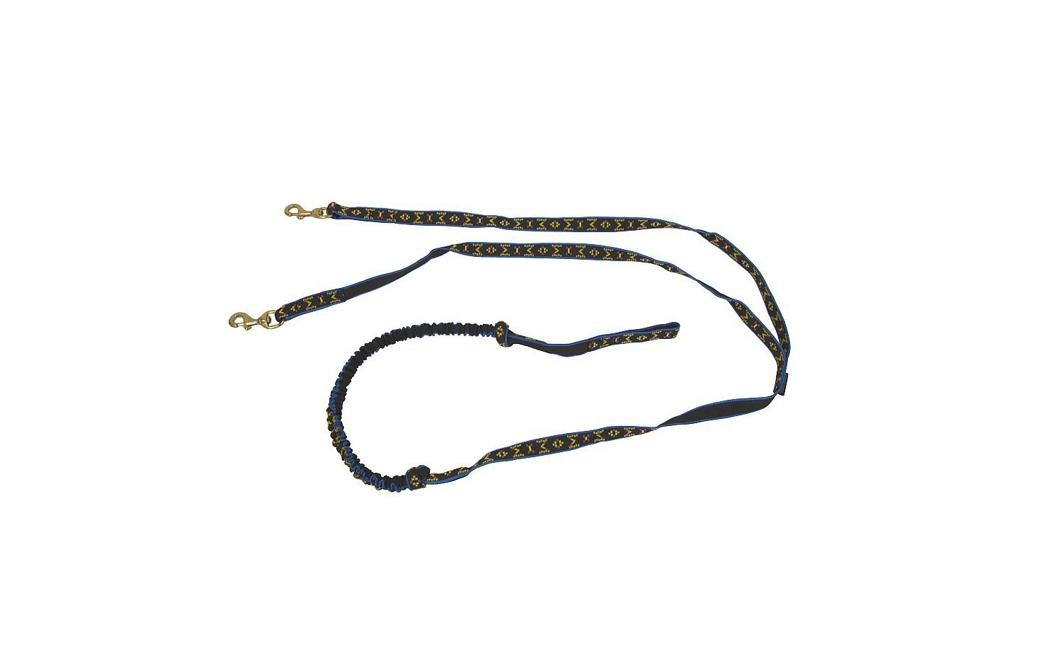 Flexible dog-lead ManMat for 2 dogs