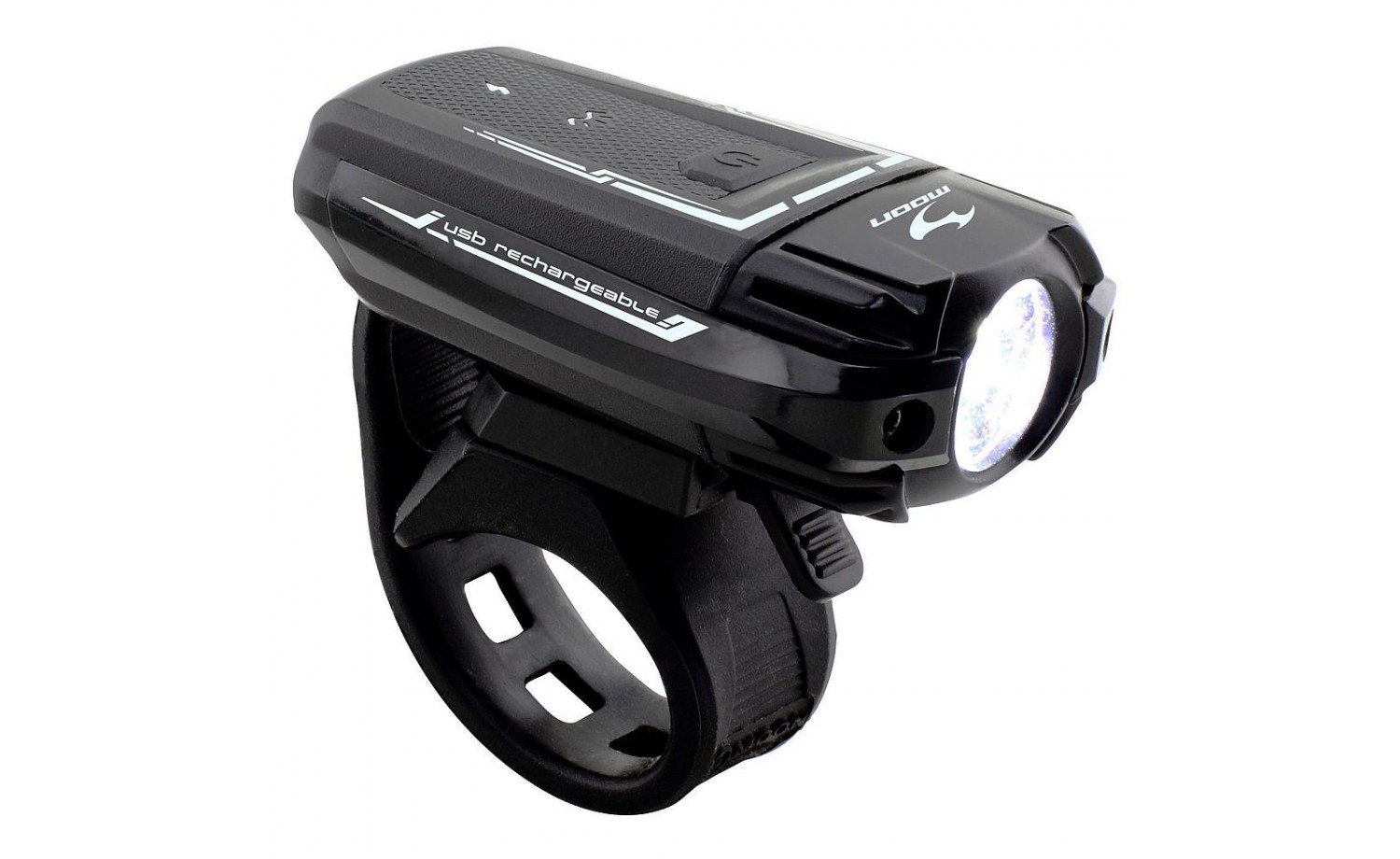 Front light Moon Meteor 300 USB charging black