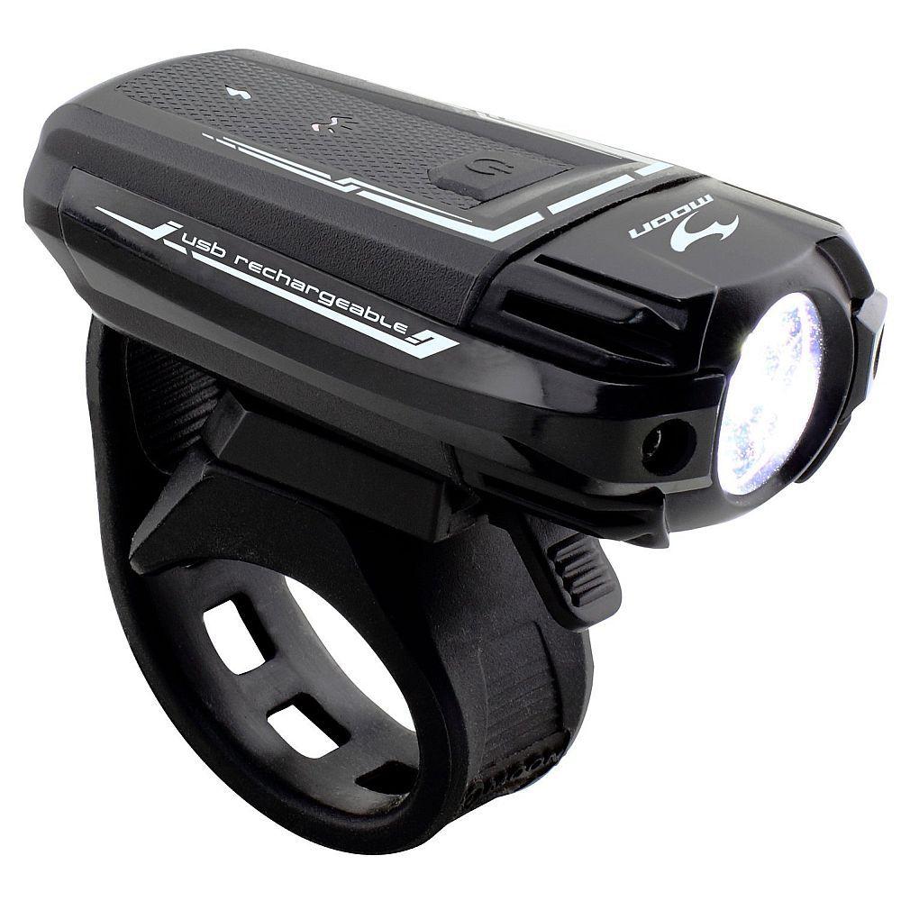 877d76540b8 Front light Moon Meteor 300 USB charging black - KOSTKA footbike