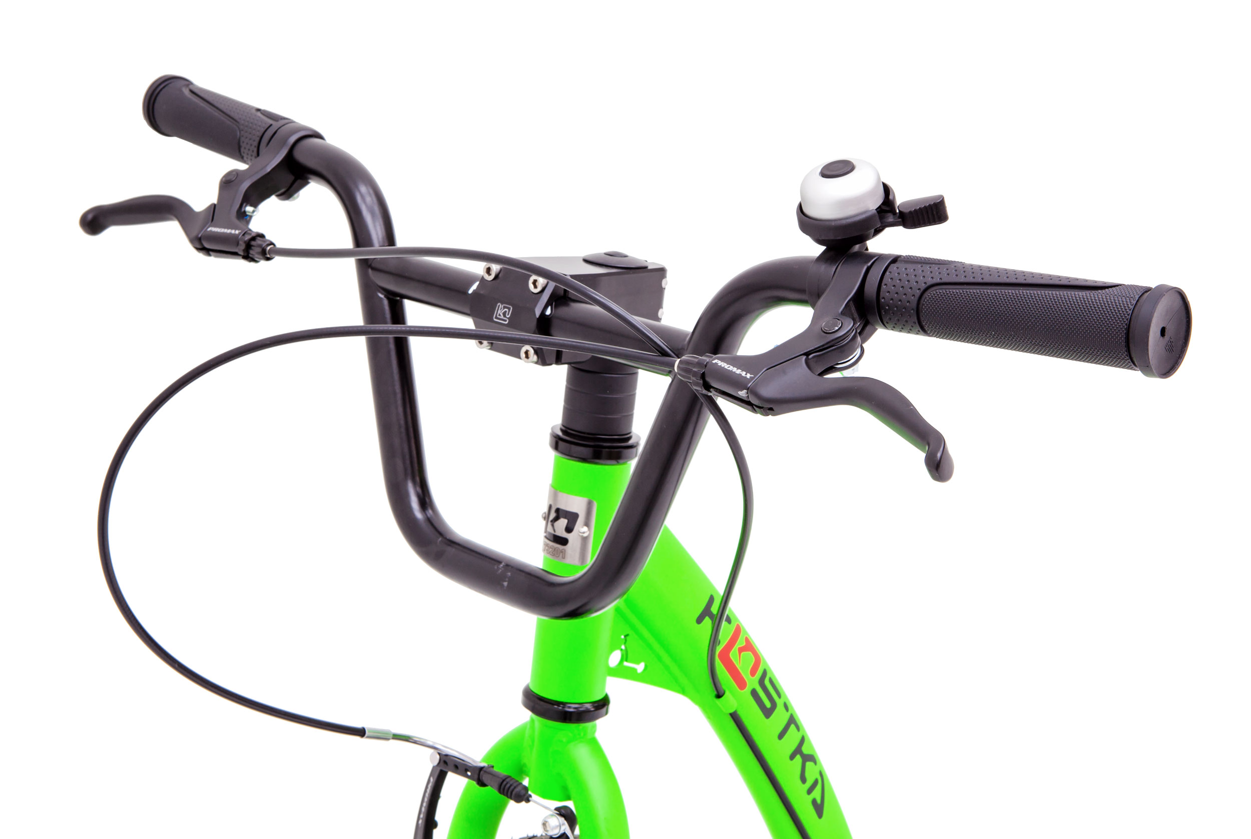 Lower position of handlebars